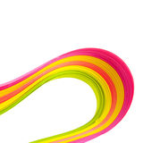 Paper strips in bright colors Royalty Free Stock Photo