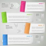 Paper strips for data presentation Stock Image