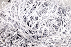 Paper strips from a shredder Stock Image