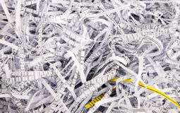 Paper strips from a shredder Stock Images