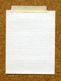 Paper stuck cork board. royalty free stock photography