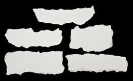 paper stycken riven white Fotografering för Bildbyråer