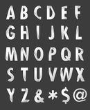 Paper style alphabet. Alphabet Set paper style letters on dark background Stock Images
