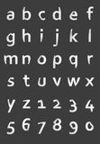 Paper style alphabet Royalty Free Stock Images