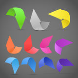 Paper style arrows set Royalty Free Stock Photos