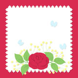 Paper style bouquet Stock Image