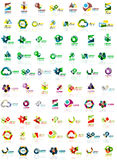 Paper style geometric shapes with glass effects. Corporate abstract logo design icon concepts Stock Image