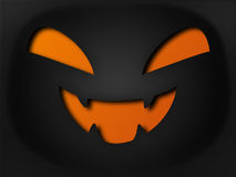 Paper style halloween pumpkin Stock Photos