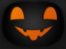 Paper style halloween pumpkin Royalty Free Stock Photo