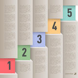Paper style infographics Stock Images