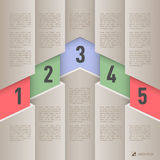 Paper style infographics Royalty Free Stock Photos
