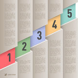 Paper style infographics Royalty Free Stock Image