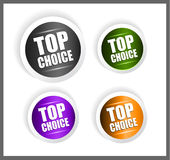 Paper style labels with 3 choices. Royalty Free Stock Images