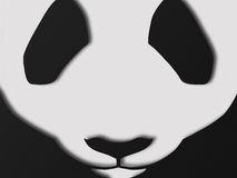 Paper style panda snout Stock Image