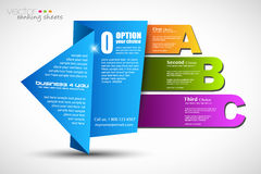 Paper style ranking elements Royalty Free Stock Images