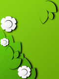 Paper style spring picture Royalty Free Stock Images
