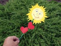 Paper sun Stock Image