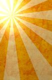 Paper with sun rays. Paper textured grunge background in retro style Stock Images