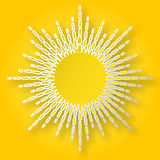 Paper sun on the sky Royalty Free Stock Photography