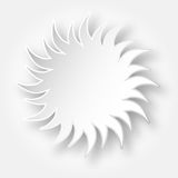Paper sun on the sky Royalty Free Stock Images