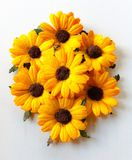 Paper sunflowers royalty free stock photography