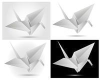 Paper swan. Folded paper swan theme illustration Stock Images