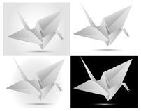 Paper swan. Folded paper swan theme illustration vector illustration