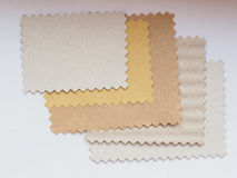 Paper swatch Stock Photos