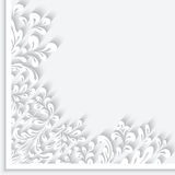 Paper swirls corner ornament Royalty Free Stock Photography