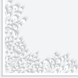 Paper swirls corner ornament Royalty Free Stock Photography