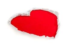 paper symbol för hjärta Arkivbild