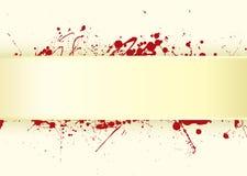 Paper tab blood splat Stock Image