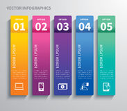 Paper tab infographic. Vector paper tab infographic concept Stock Photos
