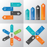 Paper tab infographic Stock Images
