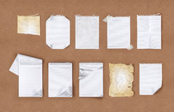 Paper on the table Stock Image