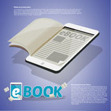 Paper on tablet, Ebook concept. typographic design -  Stock Photography
