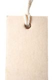 Paper tag. With rope isolate on white background Royalty Free Stock Image