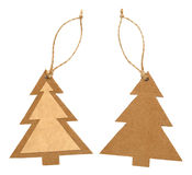 Paper tag in form of christmas tree Stock Image