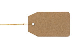 Paper tag isolate on white background Stock Images
