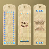 Paper tag with rich stone. Vector label. Collection of luxury templates. Stock Photos