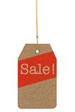 Paper tag with the text Sale isolated on white background Royalty Free Stock Photos