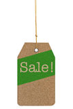 Paper tag with the text Sale isolated on white background Royalty Free Stock Images