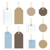 Paper tags Stock Images