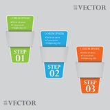 Paper tags. On grey background, vector Stock Image