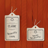 Paper tags on overlay background. Eps 10 Royalty Free Stock Photo