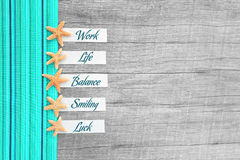 Paper tags with text on wooden background - emotions Stock Image