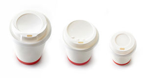 Paper take away coffee cups Royalty Free Stock Photography