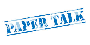 Paper talk blue stamp Royalty Free Stock Image