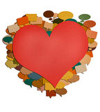 Paper talk red heart image. Stock Image