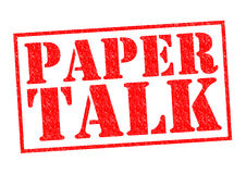 PAPER TALK. Red Rubber Stamp over a white background Royalty Free Stock Images